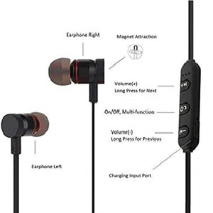 Top Quality Best Trending Ear- Magnetic Bluetooth Headset with Mic Bluetooth Headset Bluetooth Headset  (Black, In the Ear)