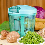 Trending Quality Turbo Vegetable Chopper, Cutter, Mixer for Kitchen with 5 Stainless Steel and Whisker Blade 900 ml