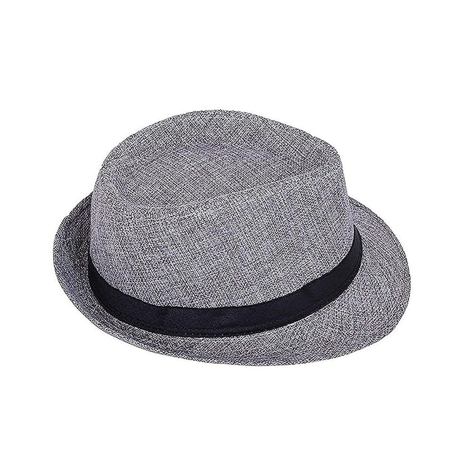 Trending Fashion Wild Sun Protection Outdoors Casual Women Summer Solid Cowboy Hat Men Retro Spring Beach Breathable Caps - Grey