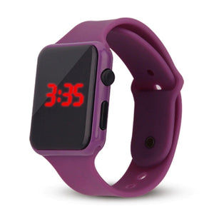 High Top Quality LED Student Couple Electronic Sports 2020 Sport Digital Watches Purple