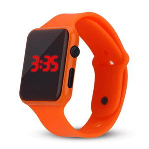 High Quality LED Student Couple Electronic Sports 2020 Sport Digital Watches Orange