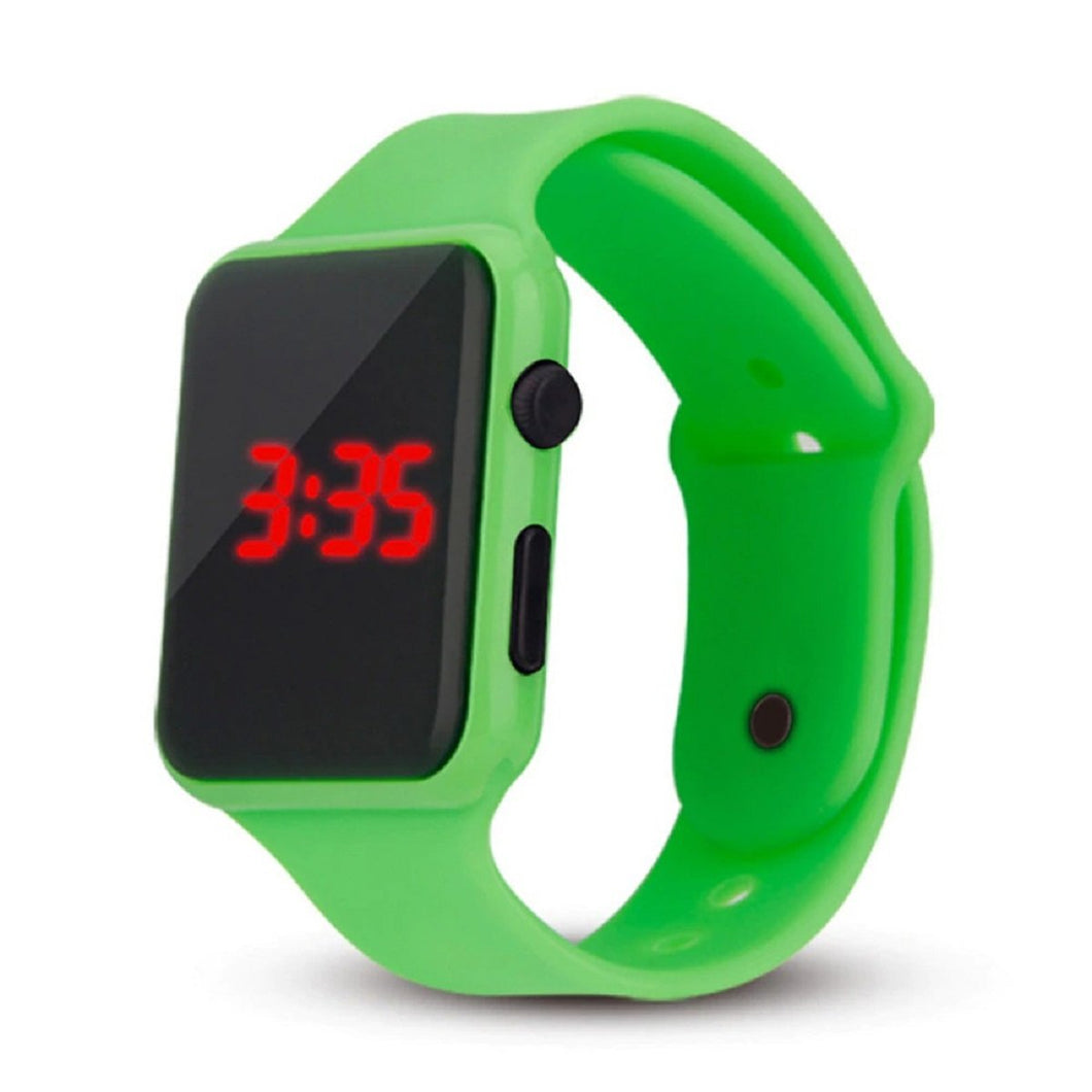 High Quality LED Student Couple Electronic Sports 2020 Sport Digital Watches Green