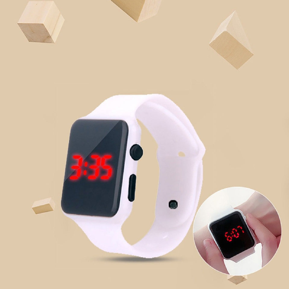 High Quality Watches LED Student Couple Electronic Sports Watch 2020 Sport Digital Watches White