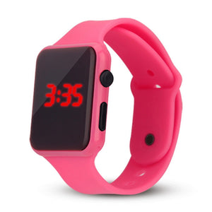 High Quality LED Student Couple Electronic Sports 2020 Sport Digital Watches Pink