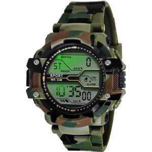 Trending Best Quality Digital Sports Army Military Color Indian Digital Watch For Men