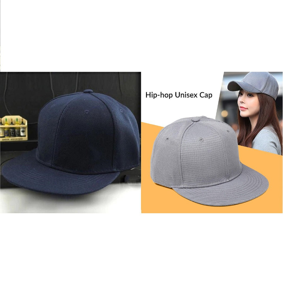 Trending Navy Blue Grey Hip Hop Caps Solid Snapback Caps Fitted Casual Dad Hats Men Women Unisex