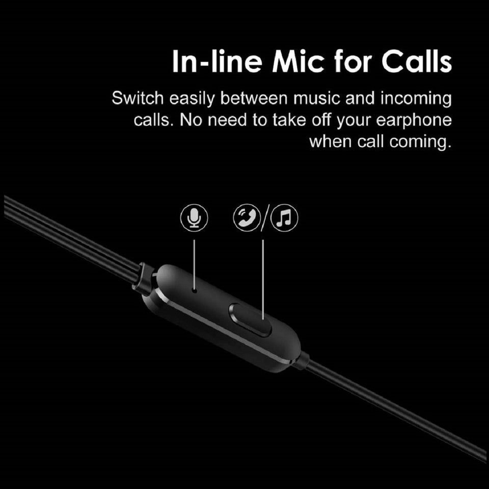 Top Quality Best Trending Conch Pure Bass & HD Sound in-Ear Wired Earphones with Mic (Black) for OnePlus Mobiles