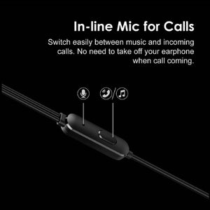 Top Quality Best Trending Conch Pure Bass & HD Sound in-Ear Wired Earphones with Mic (Black) for Samsung Mobiles and Tablets