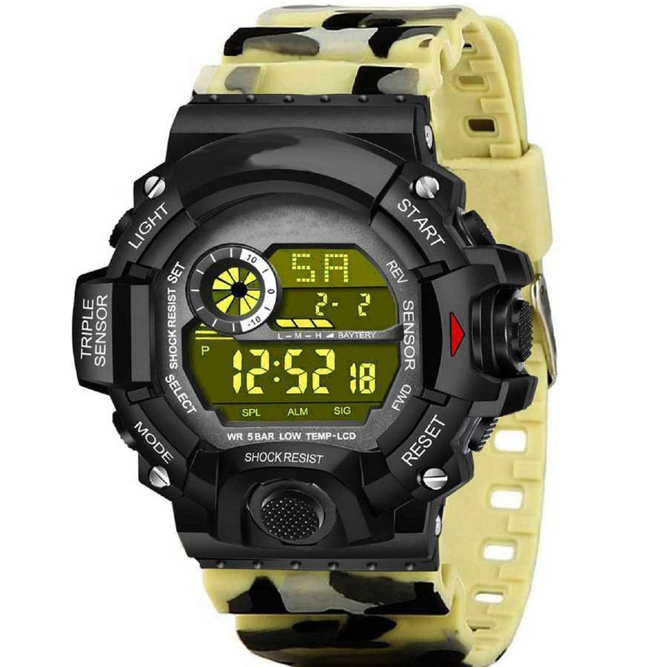 Trending Luxury Men's Digital Led Watch Sport Men Outdoor Date Military Army Style Sports Water Resistance Original Collection Digital Watch For Men