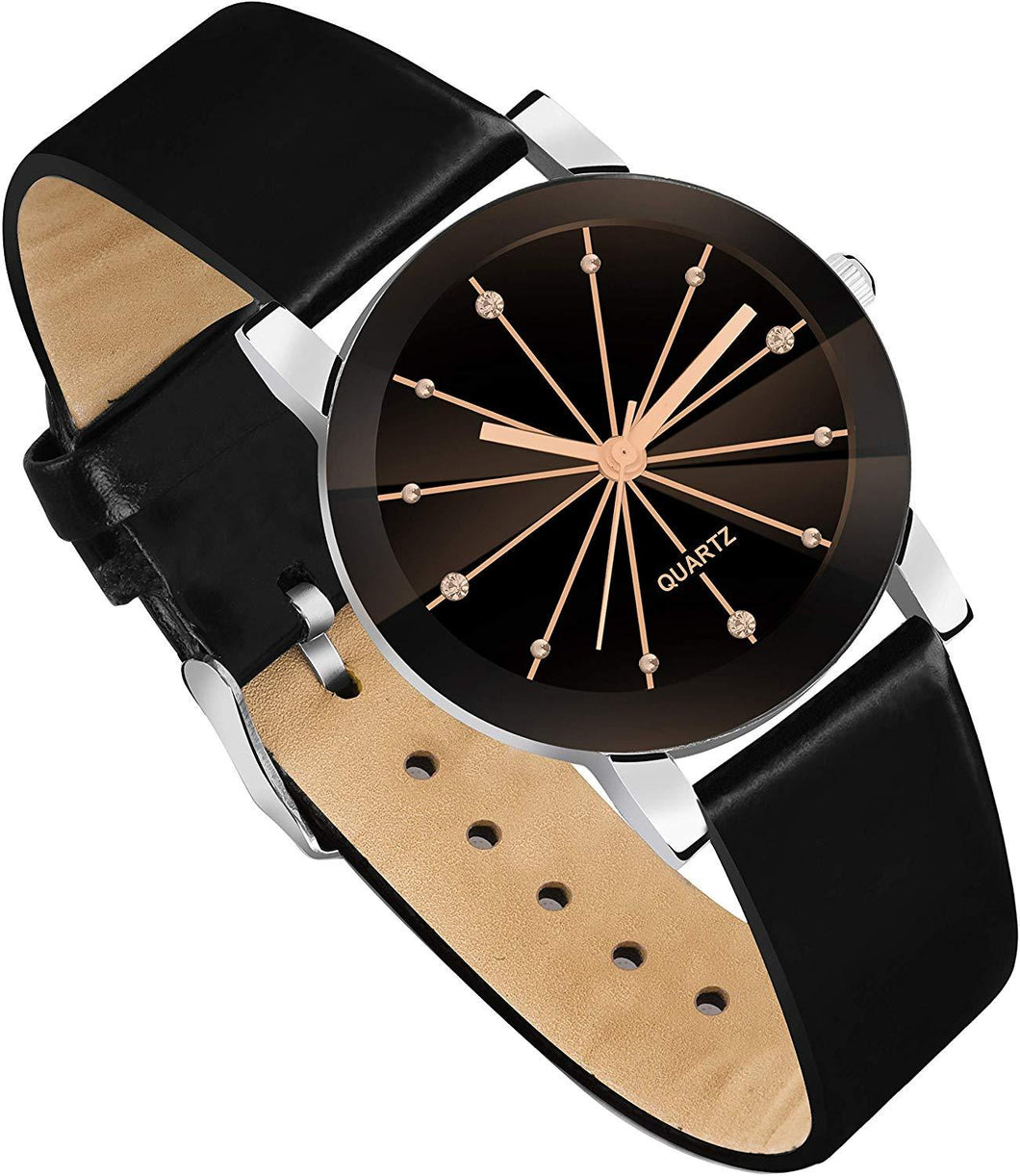 Trending Style Best Quality Prism Glass Design for Women and Girls Analog Watch