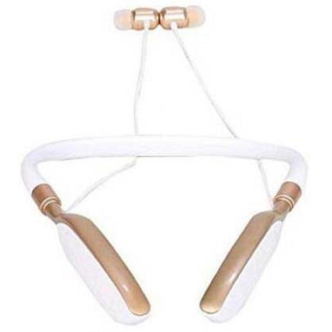 Top Quality Best Selling Sound Neckband Wireless With Mic Headphones Bluetooth Headset Without Mic  (Gold, In the Ear)