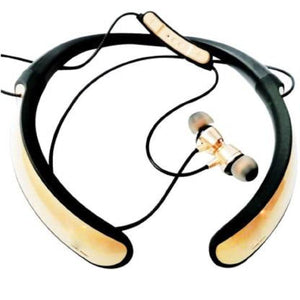 Top Quality Best Selling music Neckband Wireless With Mic Headphones Bluetooth Headset  (Gold, In the Ear)