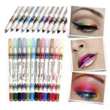 Trending 12PCS/PACK 2 in 1 Eyeliner 12 Colors Lip Pencil Long-lasting Waterproof Makeup Cosmetic Set Eye Liner HOT