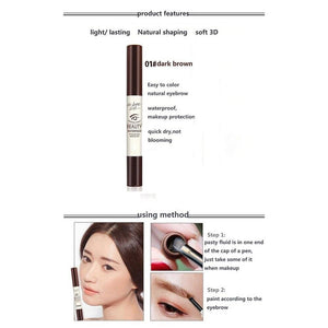 Flaunt Market Tattoo Brow Gel Eyebrow Shadow Dye Makeup Quick drying Waterproof Sweat proof Eyebrow Definer Dark Brown 01