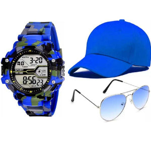Fashion Waterproof Men's Boy LCD Digital Stopwatch Date Rubber Sport Wrist Watch & Yellow Bases Solid Color Baseball Cap Snapback Caps Hats Fitted Casual Hats For Men Women Unisex Sunglasses Women Brand Designer Sun Glasses for Men Sunglass Female