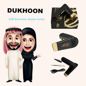 Trending USB Mini  Bakhoor Dukhoon with Box Electronic Hand held Incense Burner portable Muslim Ramadan Home Decor Gift
