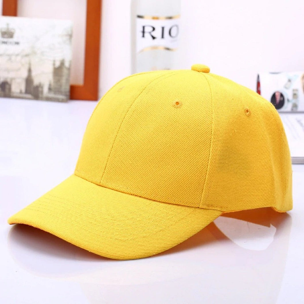 Top Quality Best Trending 2020 Yellow Solid Color Baseball Snapback Caps Fitted Casual Dad Hats For Men Women Unisex