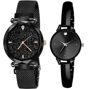 Top Quality Trending 2020 New Luxury Women Watches Fashion Magnet Buckle Black Ladies Wristwatch Starry Sky Diamond Gift Quartz