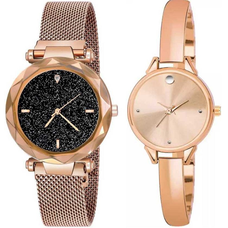 Top Quality Trending 2020 New Luxury Women Watches Fashion Magnet Buckle Rose Gold Ladies Wristwatch Starry Sky Diamond Gift Quartz