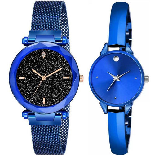 Top Quality Trending 2020 New Luxury Women Watches Fashion Magnet Buckle Blue Ladies Wristwatch Starry Sky Diamond Gift Quartz