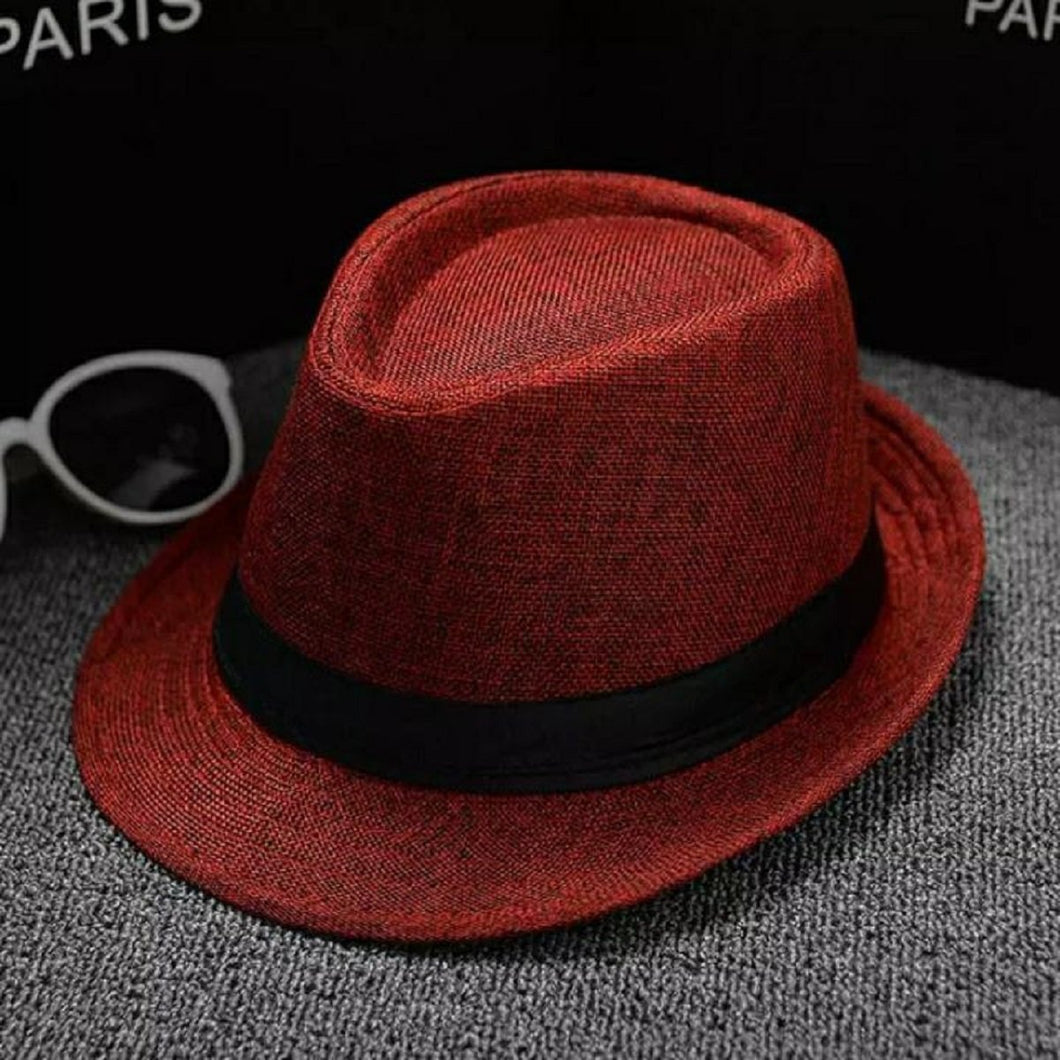 Trending Hat Fashion Wild Sun Protection Outdoors Casual Women Cowboy Hat Men Retro Spring Summer Autumn Beach Breathable Caps - Red