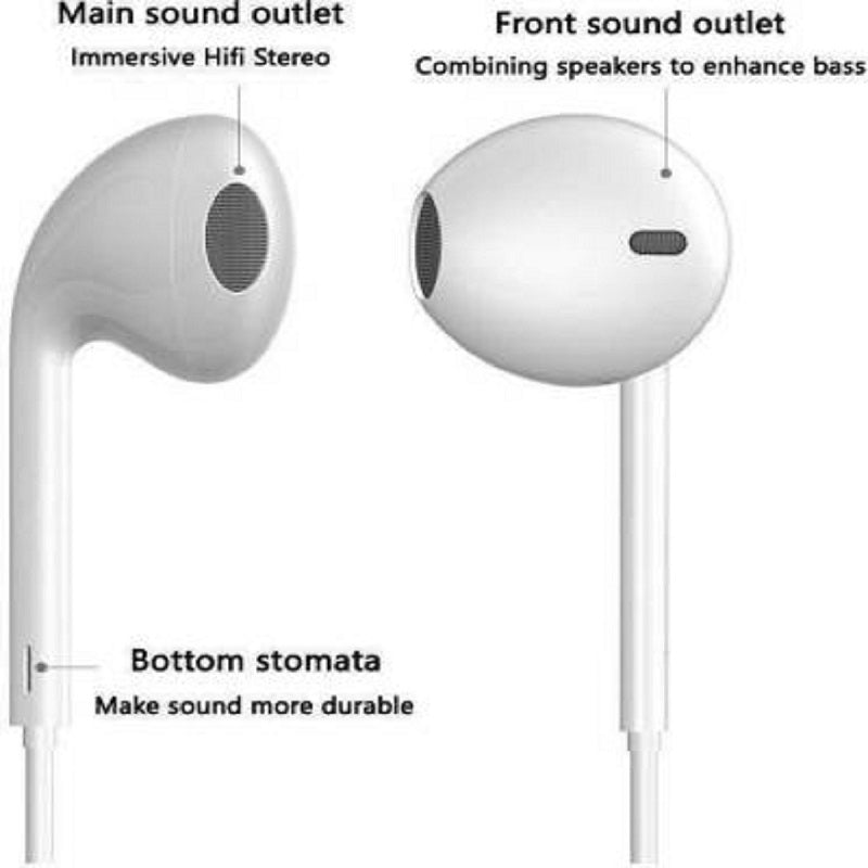 Top Quality Trending3.5mm Wired Headphones With Bass Earbuds Stereo Earphone Music Sport Gaming Headset With Mic For Xiaomi IPhone 11 Earphones