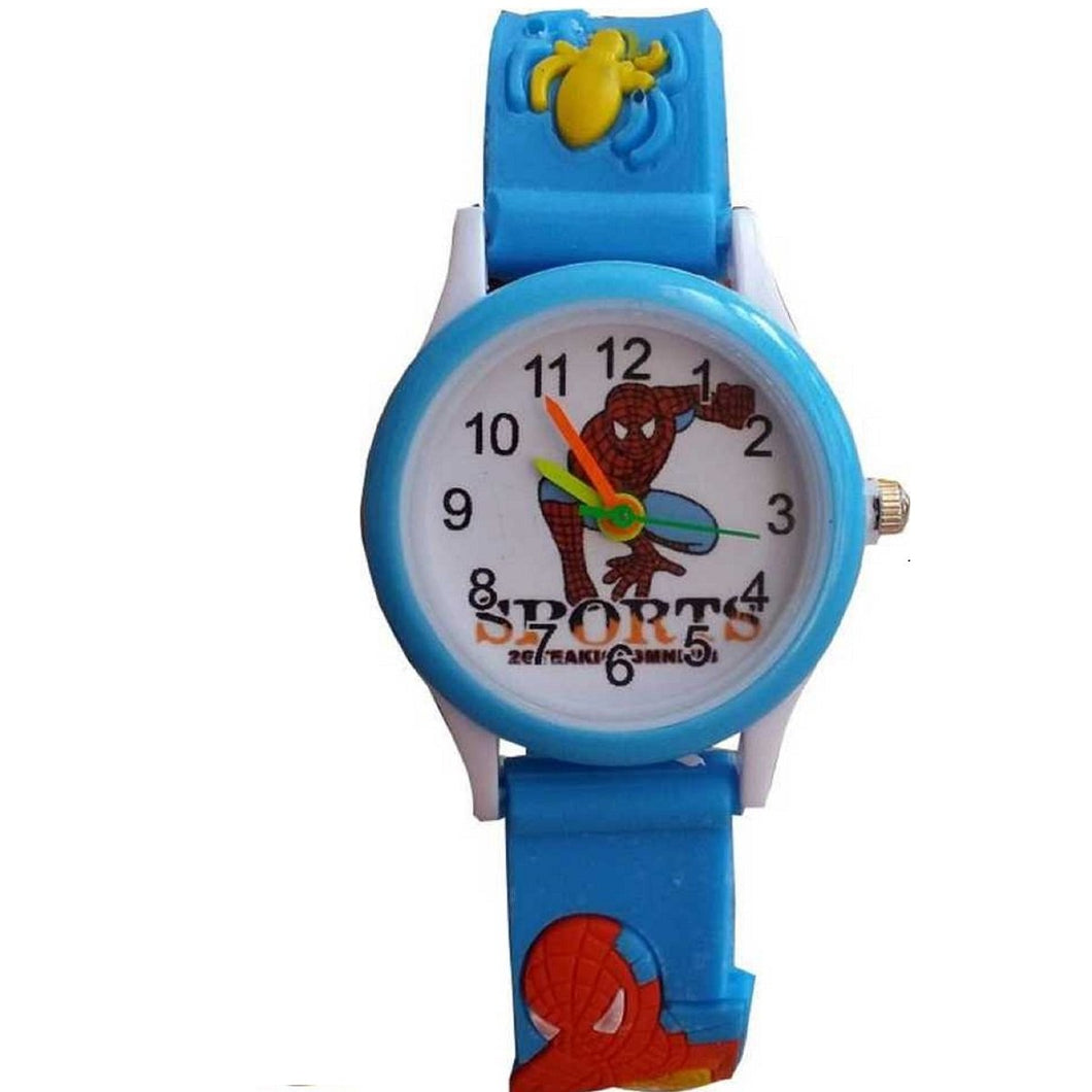 Trending Sale Top Quality Hot Selling Smartwatch 3D Rubber Strap Spiderman Children Watch Kids Cartoon Sports Quartz Wrist watch for Boys Clock