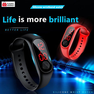 Trending Sports Watches For Kids Children men women five (5) Pieces Led Digital Ultra-light Silicone Strap Teen Boys Girls Wristwatch Unisex Great Item For Gift