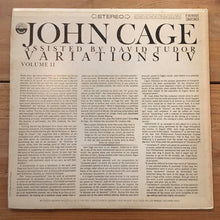 Load image into Gallery viewer, John Cage ‎– Variations IV Volume II