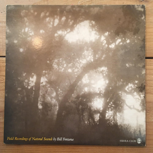 Bill Fontana - Field Recordings of Natural Sounds