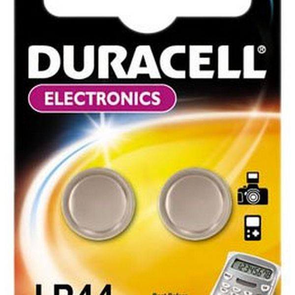 Alkaline Button Cell Batteries DURACELL DRBLR442 LR44 1.5V (2 pcs)