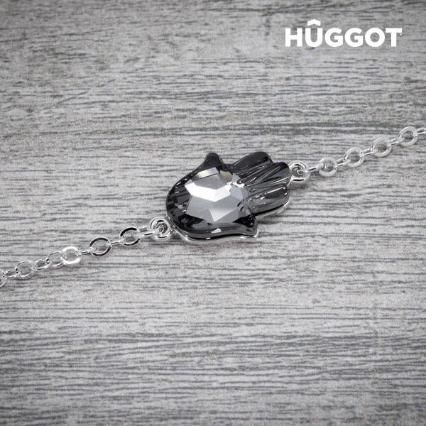 Hûggot Girl Rhodium-Plated Bracelet Created with Swarovski®Crystals (20 cm)