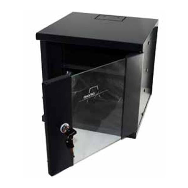 "Wall-mounted Rack Cabinet Monolyth 200000 6 U 330 x 310 mm 10"" Black"