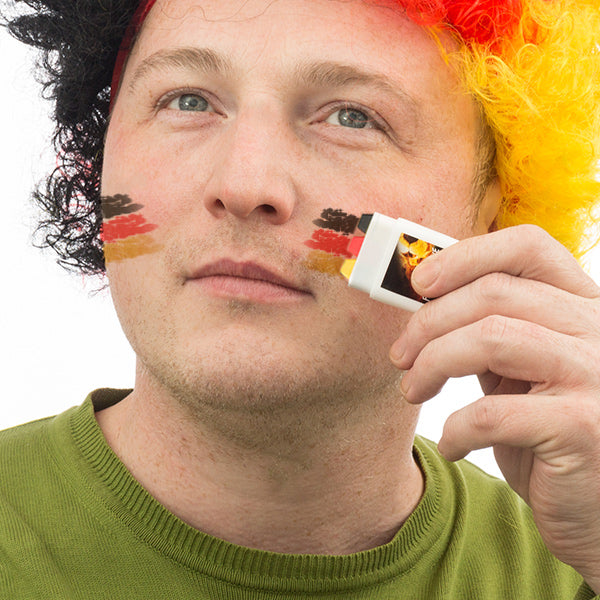 German Flag Face Paint