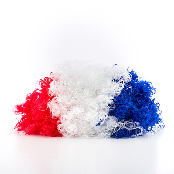 French Flag Afro Wig
