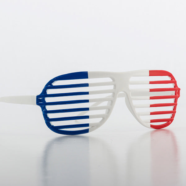 French Flag Shutter Glasses