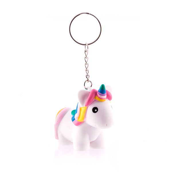 Junior Knows Squeeze Unicorn Key Ring