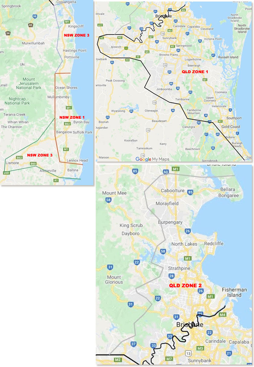 Delivery Zones Map