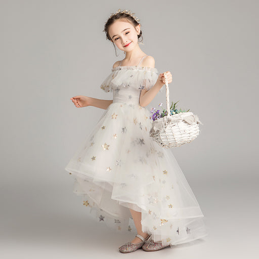 Forest Starring Night Fairy Princess Fancy Flower Lace Boutique Dress Girl's Birthday Outfit