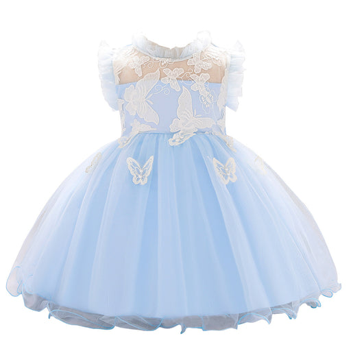 Little Girl Butterfly Soft Embroidery Party Fairy Baby Girl Birthday Dress
