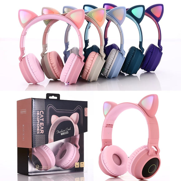 Cat Ear Headphones | Bluetooth 5.0 | With Mic | Support TF Card