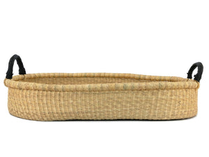 PLUM+SPARROW WHEATGRASS CHANGING BASKET BLACK HANDLE