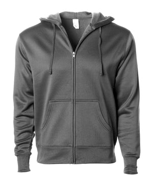 EXP444PZ Poly-Tech Zip Hooded Sweatshirt