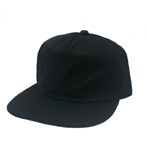 Washed Cotton 5 Panels Flat Bill Cap