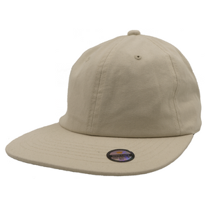 Washed Cotton Flat Bill Cap