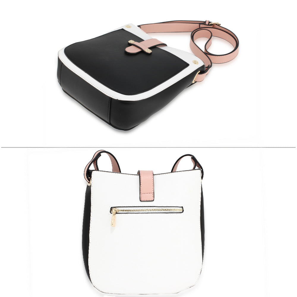 Black, White & Pink Cross body bag