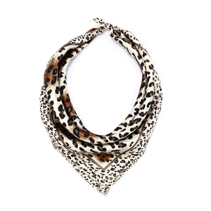 Animal Print Handkerchief Scarf