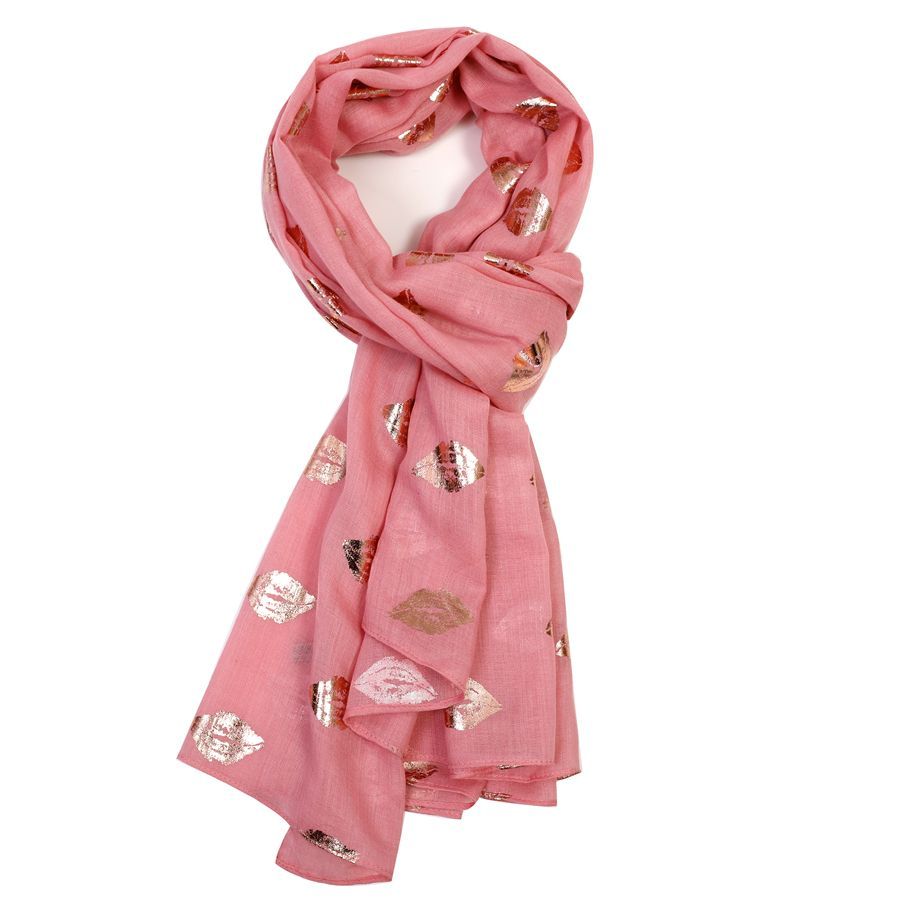 Rose gold lips scarf