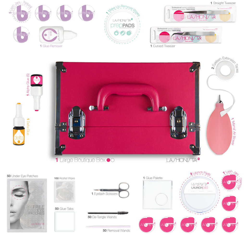 Pro Kit Pink Eyelash Extension Kits By Lashionista Pro