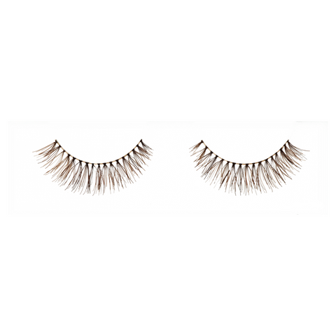 Sparrow Petite. Best brown natural fake eyelashes. Short. Lashionista luxe.